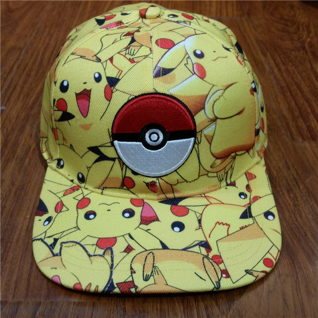 88b7400bf0747 Pokemon Go Pikachu Pokeball impreso sombrero de béisbol Unisex Hip Hop  chicos chicas Sunhat ajustable Snapback