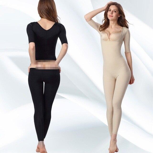 b152d42f0d Seamless Open Butt Women Waist Control Bodysuit Full Body Shaper Slimming  Underwear Long sleeve Waist Corsets-in Bodysuits from Underwear    Sleepwears on ...