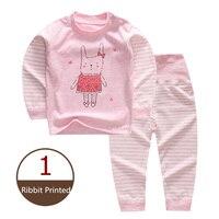 2Pcs Newborn Baby Sets Animal Print Organic Cotton Clothes For Children Cute Boys Girls Clothing Infant