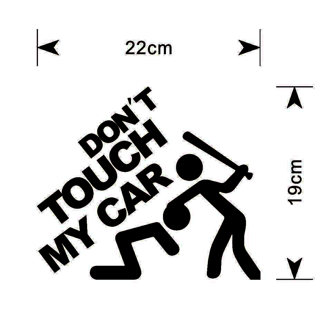 Dewtreetali Hot Sale 14*12cm Safety Warning Vinyl Car stickers DO NOT TOUCH MY CAR  car motorcycles decal styling accessories