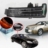 1Pcs Amber Car Side Mirror Turn Signal Light Lens For Mercedes W204 W212 W221 Right Left