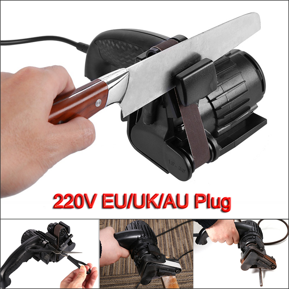 Electric Knife Sharpener Speedy Automatic Self-abrasive Onion Edition Knife Sharpener Knives Sharpening Power Tool Kitchen Tools kitchen knife sharpener blue black page 1