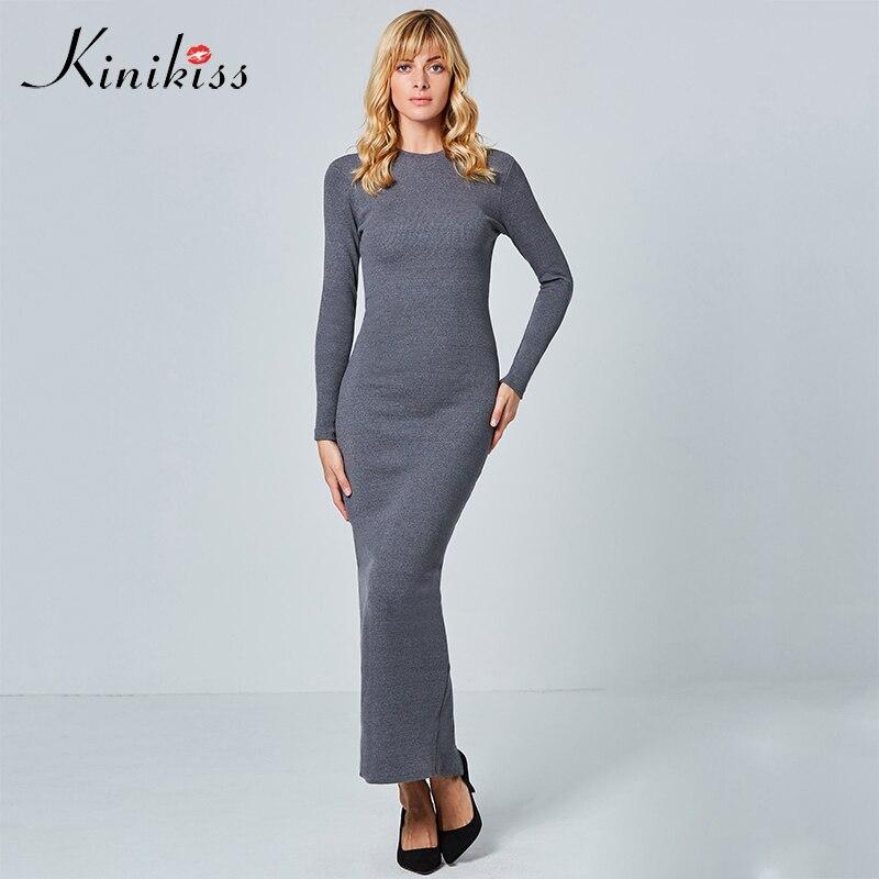 Long sleeve knit maxi dress