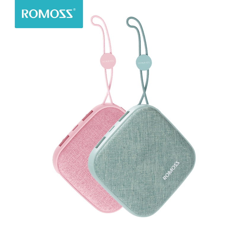 ROMOSS LC10 Style Power Bank 10000mAh Candybox 18650 Dual USB Fabric Portable Charger With Hanging Ring For iPhone Xiaomi HuaweiROMOSS LC10 Style Power Bank 10000mAh Candybox 18650 Dual USB Fabric Portable Charger With Hanging Ring For iPhone Xiaomi Huawei