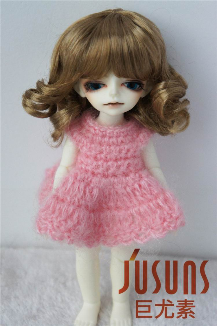 JD164 1/12 1/8 Moda Sintetička moher BJD lutka perika veličina - Lutke i pribor - Foto 5