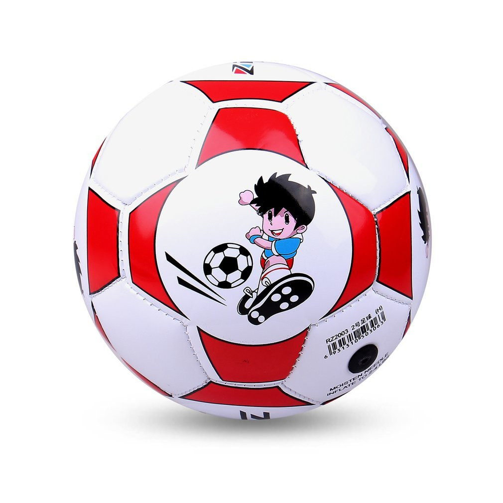 Official Size 2 Standard PU Leather Soccer Ball Training Football Indoor Outdoor With Free Net Needle For Children Students