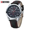 Curren hombres reloj de cuarzo de negocios hombres relojes de primeras marcas de lujo relojes militares de cuero de deportes masculino 8156