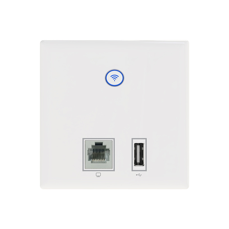 300Mbps CF E536N Built in wall AP indoor wireless router Wi Fi Router 5V Repeater switch charger socket USB LAN / RJ45