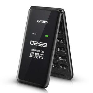 Image 3 - מקורי פיליפס E256S 2.4 inch 1300mAh סוללה אחת מצלמה רדיו FM Dual SIM 2G flip מקלדת טלפון מהיר חינם