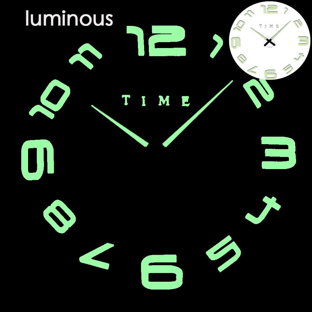 27 различных дизайнов светящиеся настенные часы современный дизайн настенные цифровые большие Big3D DIY модные Saat Reloj Horloge klok - Цвет: wall clock 21