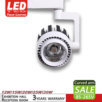 1PCS COB track light 12W 15W 20W 25W 30W 85 265V commercial exhibition hall free adjustment clothing store track spotlight