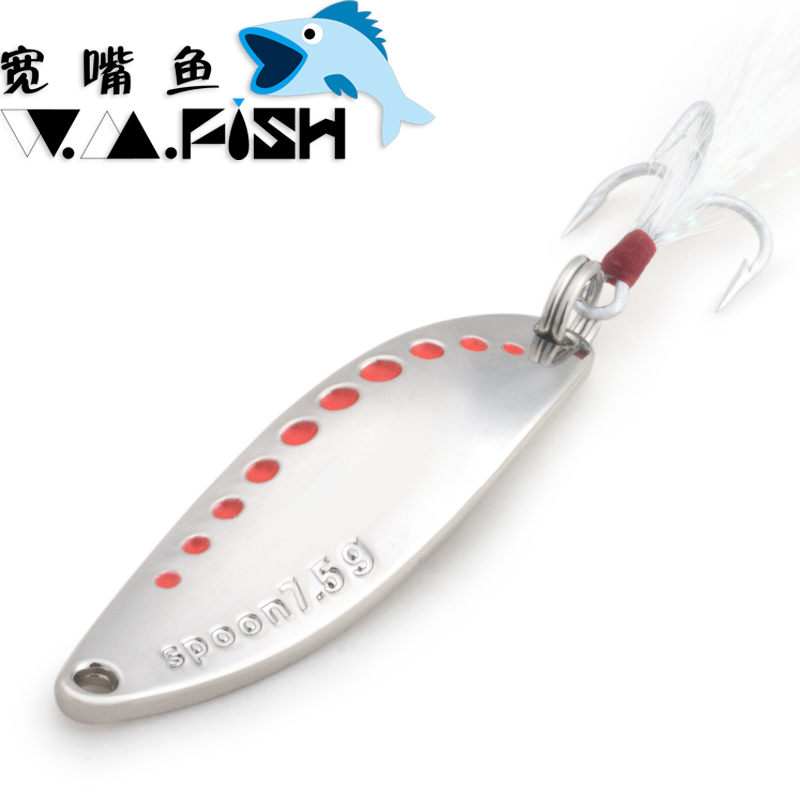 5pcs W.M.Fish Spinner Spoon Leech Willowleaf Bait Freshwater Fishing Lure Blade Artificial Casting Hook Pout Dace Sharpbelly leech therapy