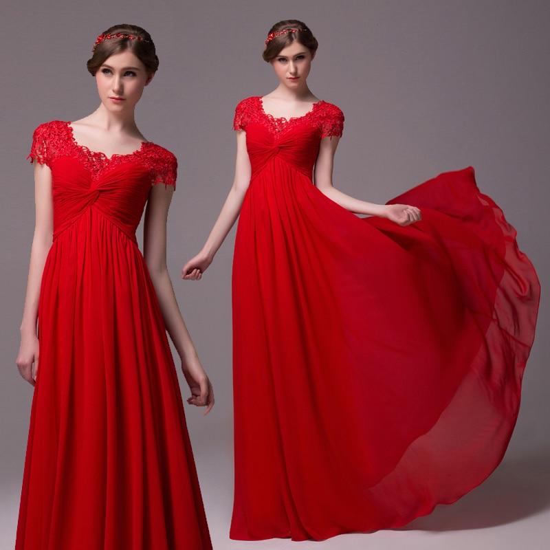 2018 vestido de festa red beach lace long cap sleeve party bridal gown sexy custom women casual free shipping bridesmaid dresses