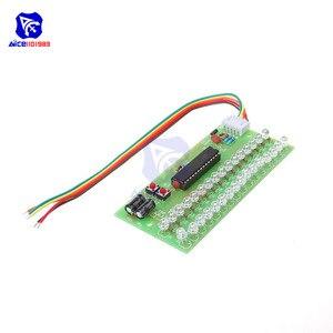 Image 4 - Sans soudure 16 LED double canal Audio indicateur de niveau amplificateur lampe bleu/vert/lumière LED rouge LED lumière DC 8  12V VU mètre Module