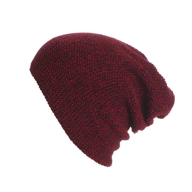 e9c2a6a32d5 2018 New Winter Hats Unisex Cotton Solid Warm Hot Sale Knitted Hat Mixed  Color Stripes Pullover