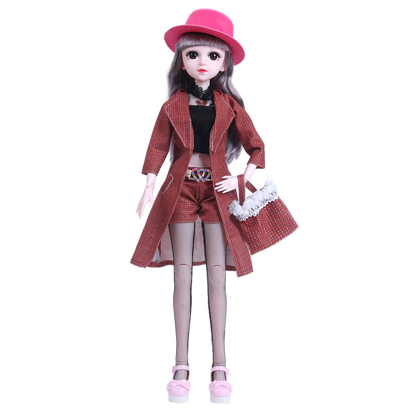 New Clothes For Dolls Accessories Dress Suit Set For 60cm BJD Doll Clothes With Bag Hat For Bjd Toys For Girls Gift