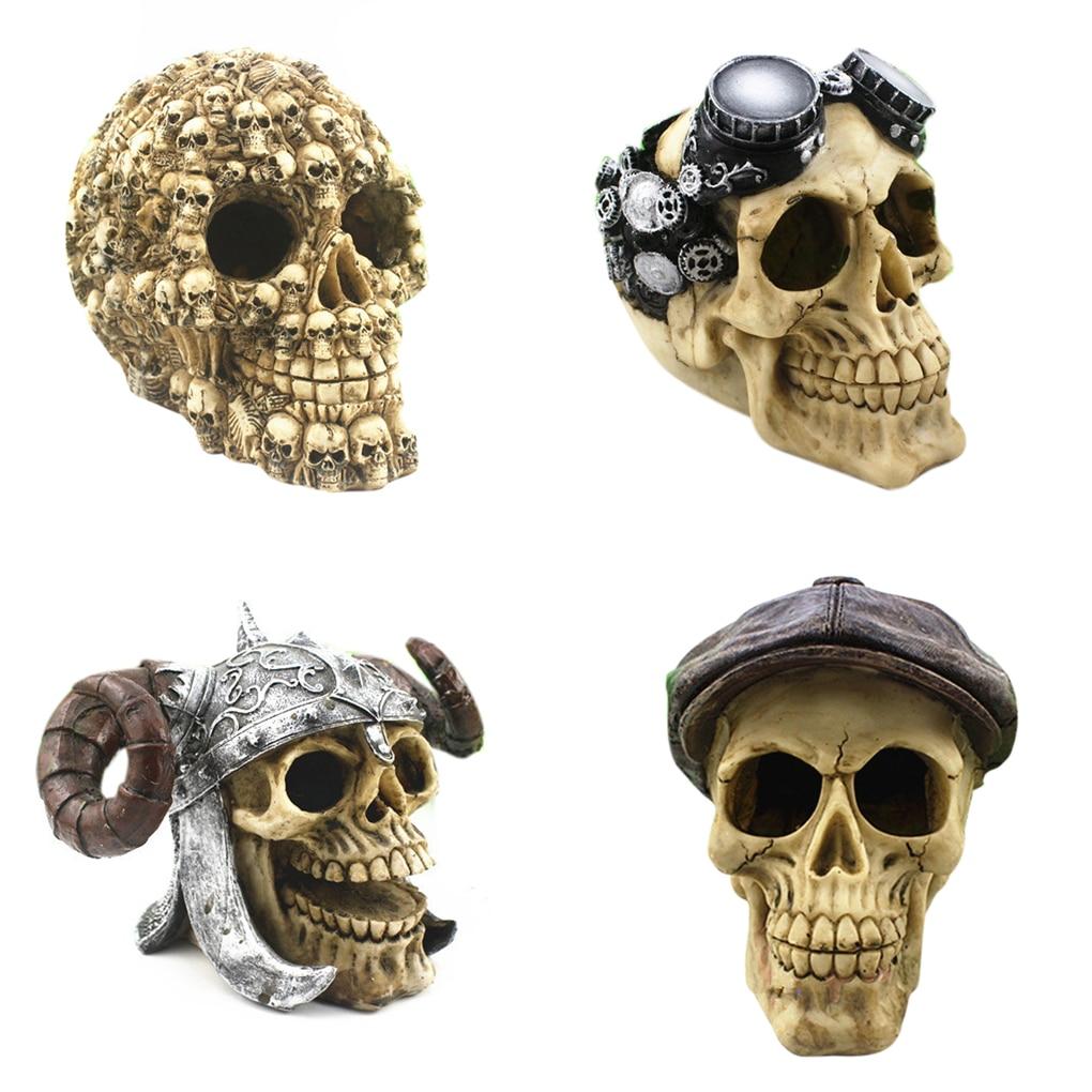 Aquarium accessories aquarium resin decoration simulation for Fish tank skull decoration