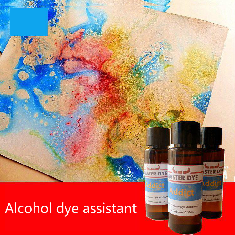 Leather Alcohol Dye  Auxiliaries 40ml Colorful  Marble Pattern Ink Dyeing