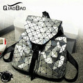 QIAO BAO Yong lady newest Baobao Hot Fashion Preppy style knapsack UNISEX Geometric Lattice BACKPACK 3 colors