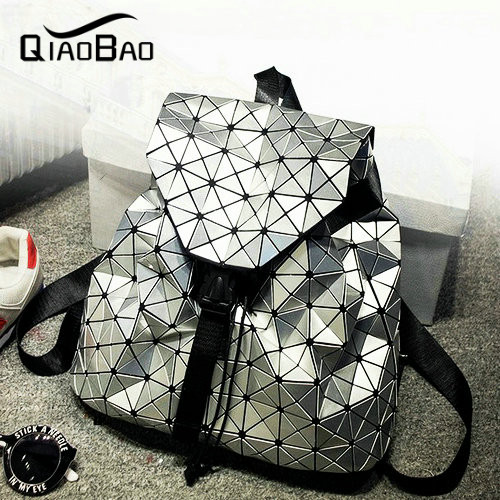 QIAOBAO Yong lady newest Baobao Hot Fashion Preppy style knapsack UNISEX Geometric Lattice BACKPACK 3 colors