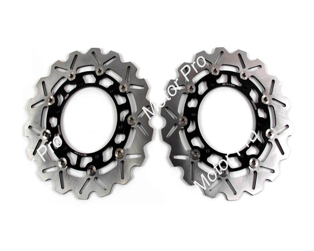 2 PCS CNC Motorcycle Front Brake Disc FOR YAMAHA FZS FAZER 1000 2001 2002 2003 2004 2005 YZF 1000R THUNDERACE brake disk Rotor motorcycle part front rear brake disc rotor for yamaha yzf r6 2003 2004 2005 yzfr6 03 04 05 black color