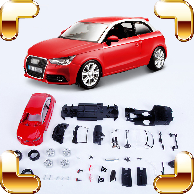 Christmas Gift A1 1/24 Metallic Model SUV Vehicle Car Alloy Collection DIY Assemble Toys IQ Game Decoration Steel Luxury Present