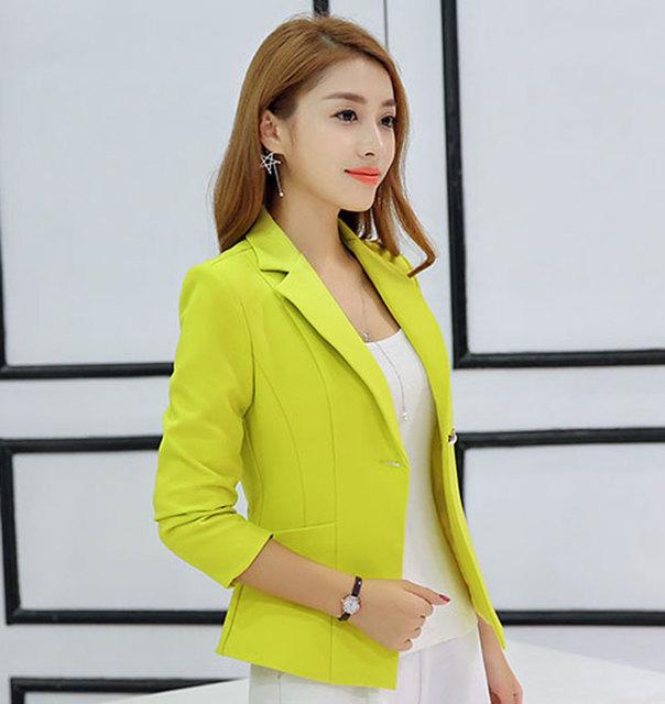 Mulheres Blazer 2016 Outono new Long-Sleeved Mulheres Versão Bleiser Mujer Paletó Mulheres Blazers E Jaquetas