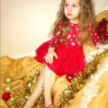 Toddler Kid Baby Girl Long Sleeve Snowman Christmas Dress