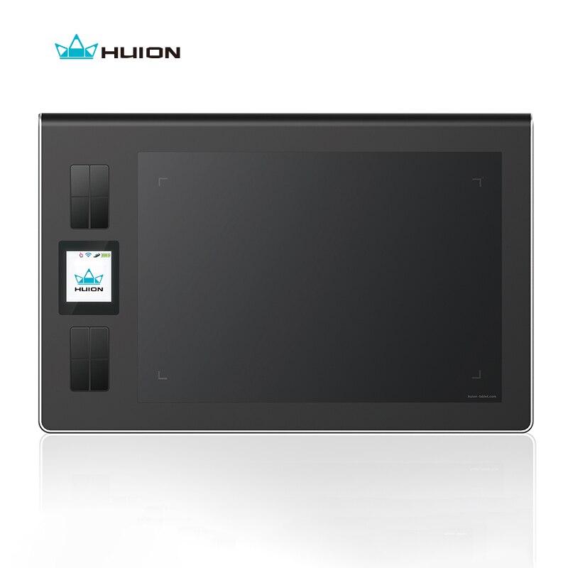 HUION DWH69 9x6 pouces sans fil tablette numérique graphique dessin stylo tablette 2048 niveaux avec écran LCD et 8 touches Express