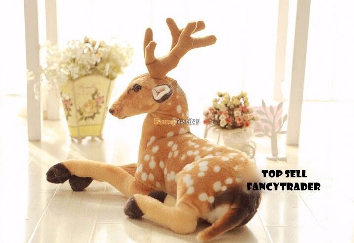 Fancytrader Новинка Высокое качество Олень Игрушка 35 ''90 см эмуляционный гигантский плюшевый с наполнителем пятнистый олень, FT90234