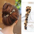 Authentic hair headwear DALLO leopard hairpin set auger spring clip tuck comb hairpin Ponytail holder