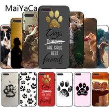 Чехол для телефона MaiYaCa с собаками для девочек, милые собачьи лапы, мягкий чехол для телефона с принтом, аксессуары для iphone X, 8, 8 plus, 7, 7 plus, 6, 6s, XS, XR, XSMAX