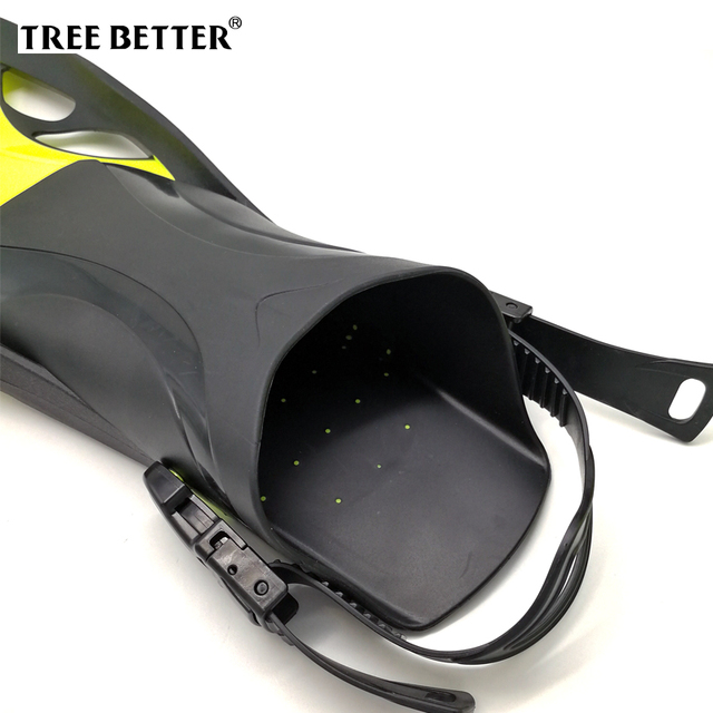 Swim Fins for Adult Adjustable Swimming Frog Shoes Silicone Professional Dive Team Open Diving Snorkeling Long diving Flippers