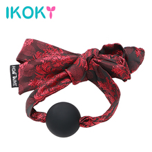 IKOKY Open Mouth Gag Ball Oral Sex Bundling Sex Toys For Wom