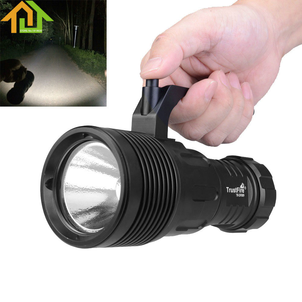 TrustFire Waterproof DF009 LED Diving Flashlight 18650 Torch  Underwater 50M  Diver Flash Light + 18650 Rechargeable Battery