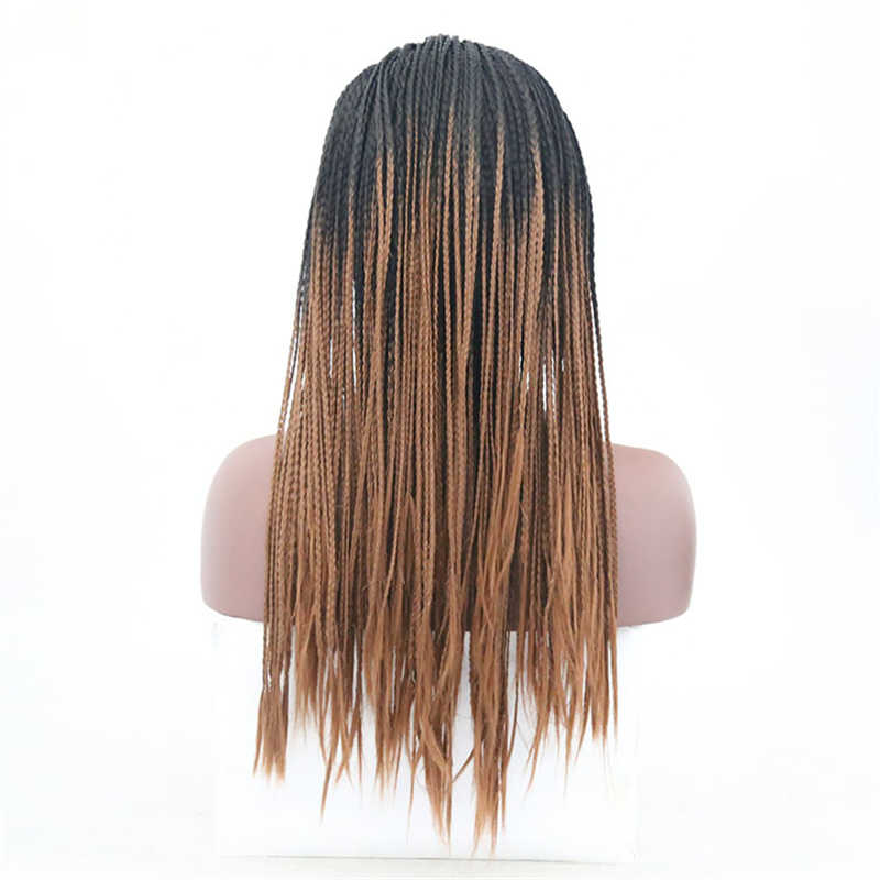 JOY & BEAUTY 28 дюймов черные коричневые синтетические плетеные парики на шнурках спереди Термостойкое волокно Премиум оплетка волосы парики для женщин 2 стиля