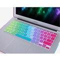 Versão dos eua colorido íris tampa do teclado de silicone para macbook air 11 13 13 Pro 15 Pro 13 15 Retina Para Mac Laptop Filme Pele
