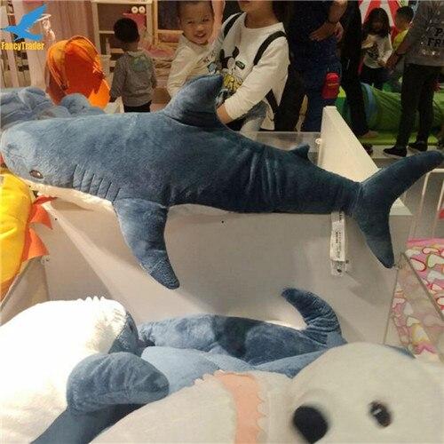 Fancytrader 39\'\' Big Plush Hammerhead Shark Soft Stuffed Lifelike Animal Shark Toy for Kids 100cm Great Gift & Home Decoration (6)