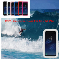 100 Sealed Waterproof Case For Samsung Galaxy S8 S8 Plus Phone Case Clear Full Protection Swim