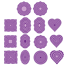 Basic Rectangle Square Circle Oval Heart Frames Sets Metal Cutting Dies for DIY Scrapbooking Craft Paper Cards Making 2019 New