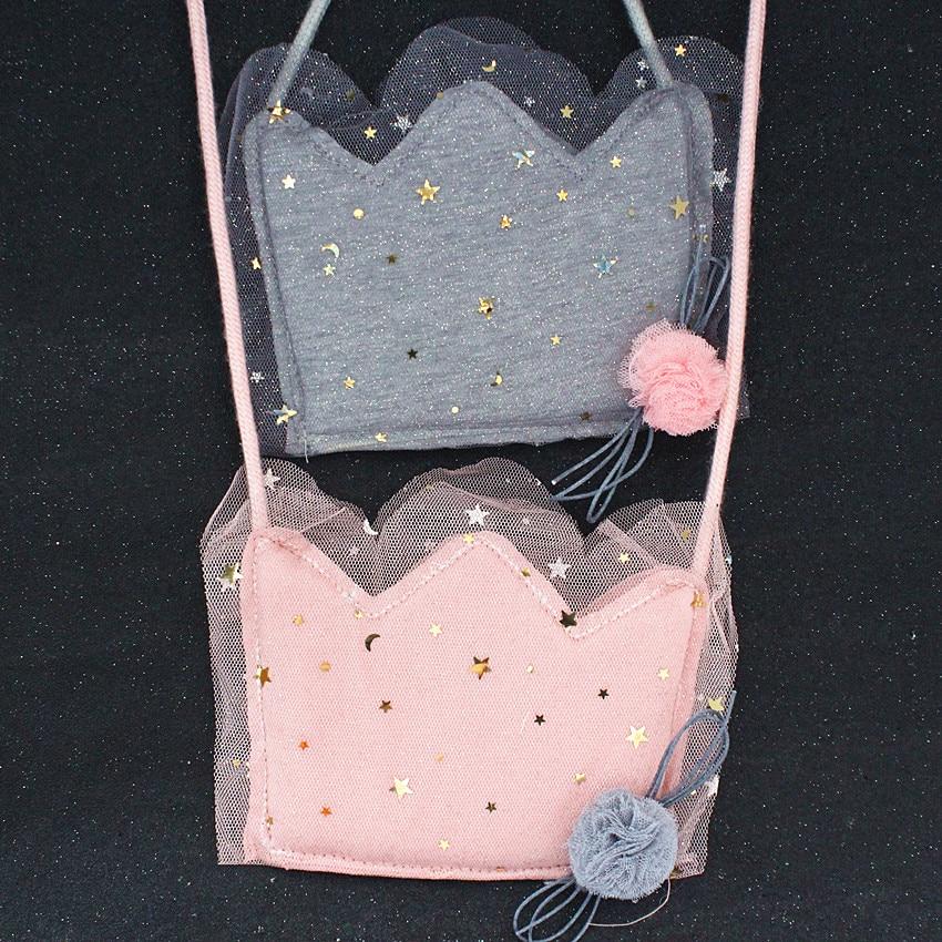 AnpassungsfäHig M649 Nette Cartoon Kinder Tasche Krone Form Spitze Rand Kreative Paket Frauen Kinder Tasche Großhandel Ungleiche Leistung Crossbody-taschen