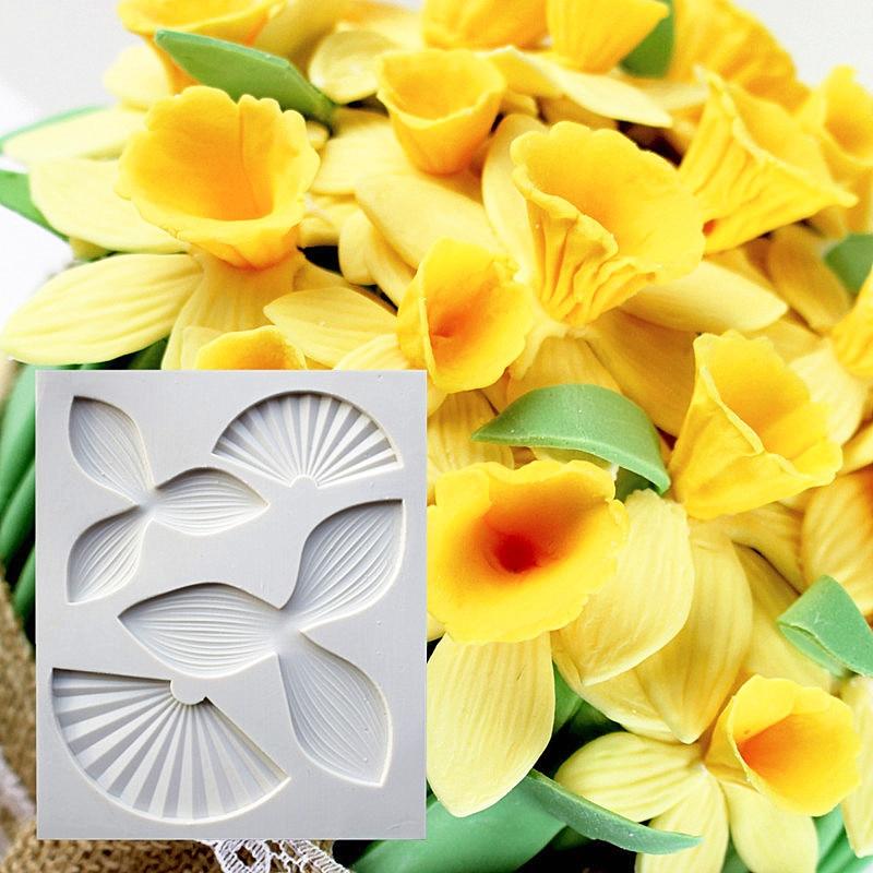 Narcissus Petal Silikon kalıp, Silikon Qoşulmuş Kalıp, - Mətbəx, yemək otağı və barı - Fotoqrafiya 1