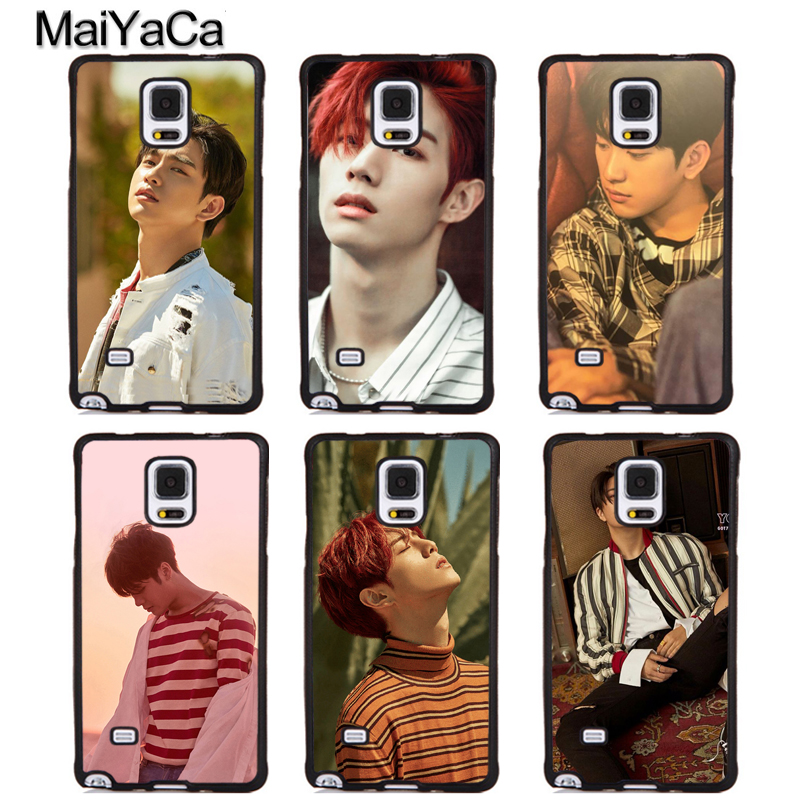 MaiYaCa KPOP GOT7 JaeHyun MARK Printed Soft Rubber Phone Cases For Samsung Galaxy S5 S6 S7 edge plus S8 S9 plus Note 4 5 8 Cover
