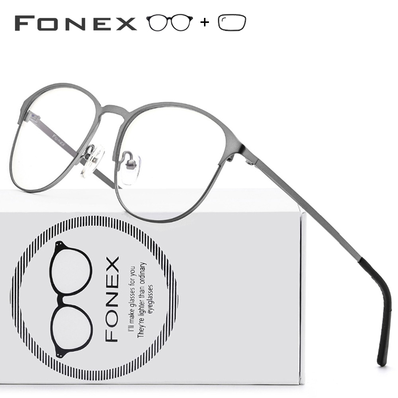 Prescription Glasses Women Optical-Frame Myopia Round Brand Eyewear Alloy Female Vintage