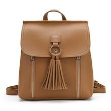 Корейский стиль кисточкой Для женщин Рюкзаки сумка Для женщин S цепи Обувь для девочек рюкзак Сумки Роскошные Дизайнерские искусственная кожа Малый Для женщин рюкзак