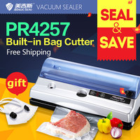 Vacuum sealing machine Vacuum packag Mechanical vacuum seal Small household Pickle food automatic preservation Built-in cutter
