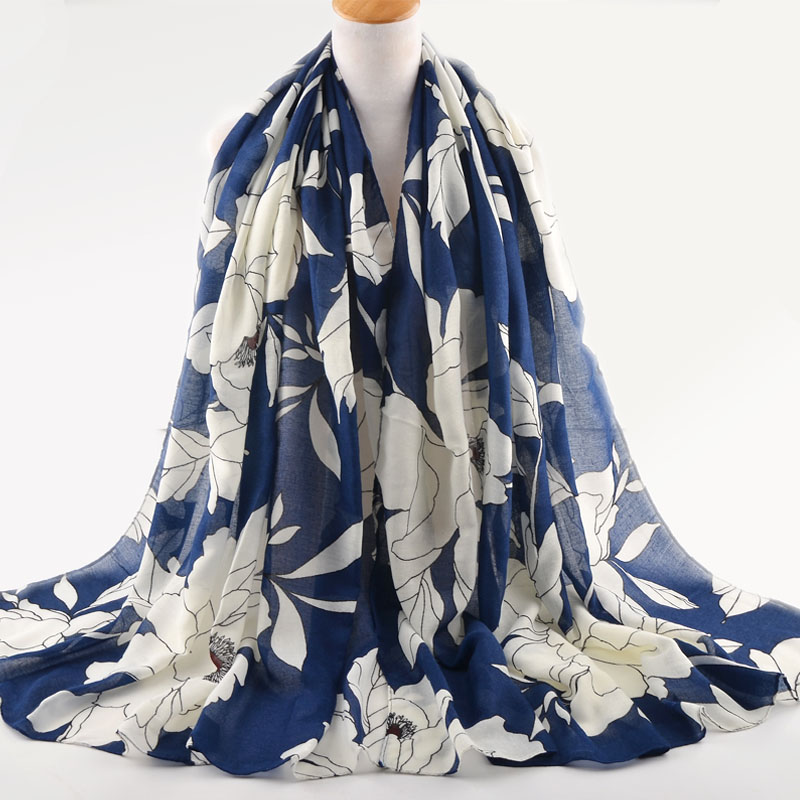 Luxury winter scarves,Cotton flower scarf,Muslim hijab,shawls wraps,women cape,shawls and scarves,british style,floral hijab
