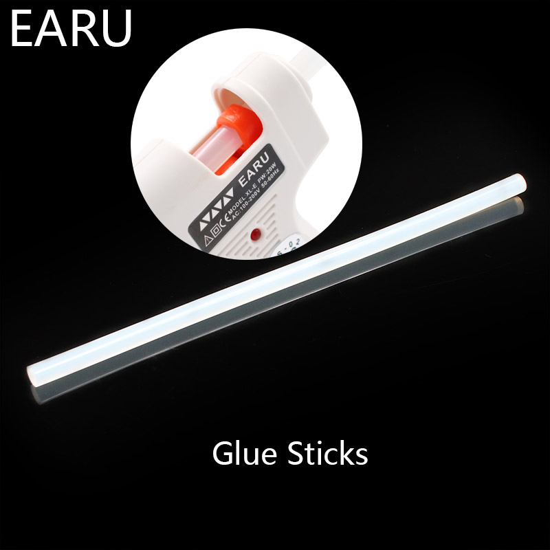 7mm Width 7x190mm Clear Hot Melt Glue Sticks For Electric Heat Glue Gun For DIY Car Audio Craft Repair General Purpose Adhesive
