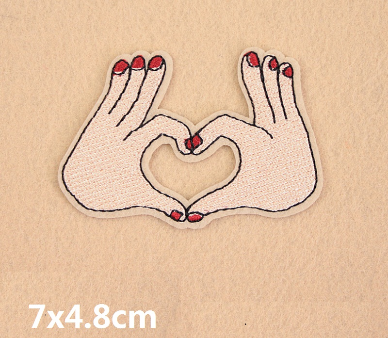 Eyes Hands Mouse Embroidered Patch Applique Cute Patches Fabric Badge Garment DIY Apparel Accessories Badges in Patches from Home Garden