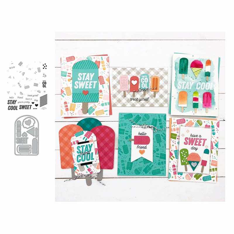 Popsicle Metal Cutting Dies and stamps Talk box Stencils for DIY Scrapbook Photo Album Paper Card Decorative